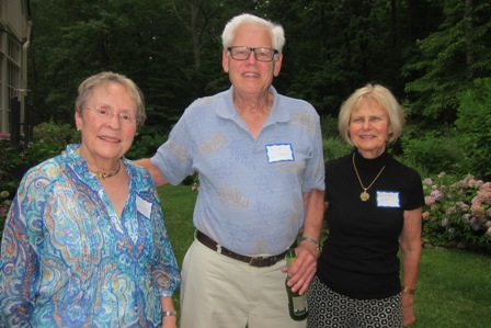 From the left:  Kitty Felten, Patrick Williams and Rosemarie Wenzel