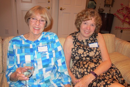 From the left:  Mary Ann Baker and Diane Block