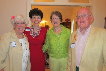From the left:  Dee Park, Betty Ann Guidry, M.J. Hall, and Bro Park