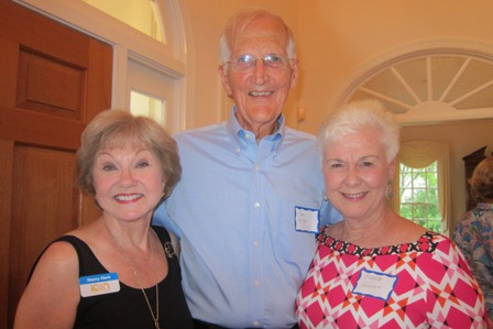 From the left:  Nancy Clark, Don Hunter and Dr. Brenda Hunter