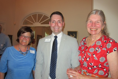 From the left:  Lee Green, Judge Richard Dietz, incumbent judge, NC Court of Appeals, and Dr. Laura Gutman