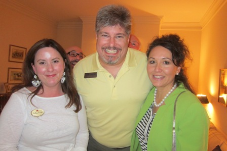 From the left:  Shelley Dietz, wife of Judge Dietz, Dave and Mary Carter