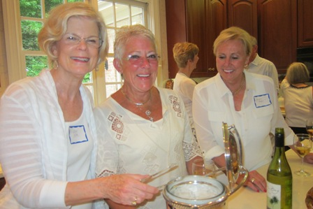 From the left:  Mary Lou Drake, Ruth Bishop and Sandy Bazley