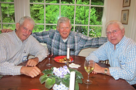 From the left:  Tom Glenndinning, Colonel Jay Stobbs (ret), and Jay Baker