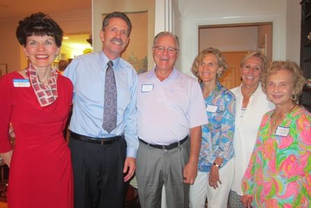 From the left:  Betty Ann Guidry, John Dodd, Jim Duncan, Cynthia West, Sandy Bazley, and Wendy Ball