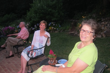 From the left:  Betsy Riggan and M.J. Hall