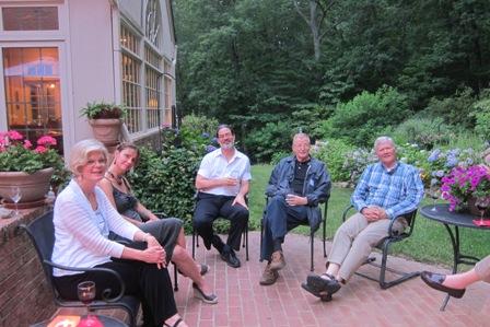 From the left:  Mary Lou Drake, Kimberly Sanchez, Steve Clipp, Bill Harris and Colonel Jay Stobbs (ret)