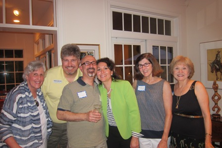 From the left:  Linda Devore, Dave Carter, Gadi Adelman, Mary Carter, Betsy Duncan and Nancy Clark