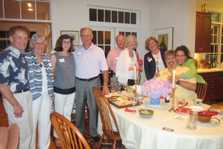 From the left:  Bob Shearer, Linda Devore, Betsy and Jim Duncan, Mary Lou and Bob Drake, Janie Wagstaff and Mary and Dave Carter