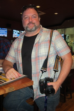 photographer/journalist at the restaurant