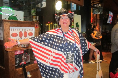 Patriotic convention attendee