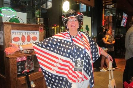 Patriotic convention attendee