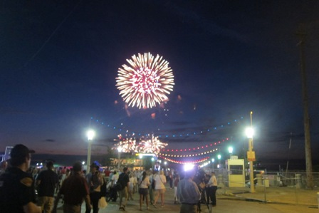 Spectacular fireworks at the harbor
