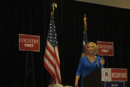 Karen  Vaughn , mother of a fallen navy seal https://www.youtube.com/watch?v=BJb_W9EpKBk - her speech at convention