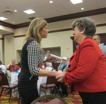 North Carolina Representative Patricia Hurley with Amber Smith