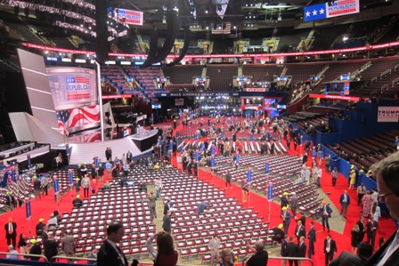 Convention floor before the session begins