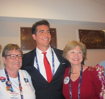 Jesse Watters (Watters World) with Linda Petrou and Nancy Clark