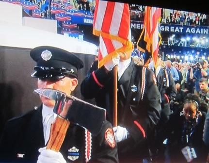 Parma. Ohio, Firemen Honor Guard, Presenting the Colors