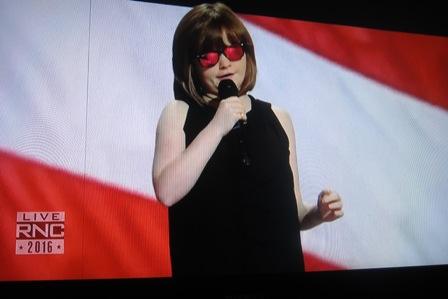 Marlana VanHoose, singing the National Anthem