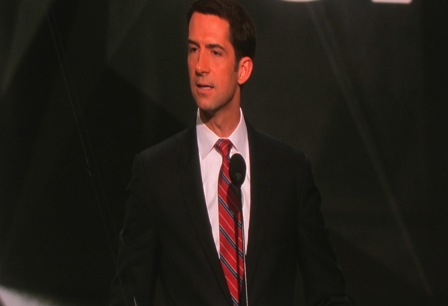 Senator Tom Cotton https://www.youtube.com/watch?v=laJDLAg-G4Q