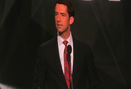 Senator Tom Cotton https://www.youtube.com/watch?v=laJDLAg-G4Q