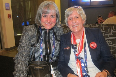 From the left:  Zan Bunn,  President, North Carolina Federation  of Republican Women,  and Linda Devore, a delegate from Fayetteville , North Carolina