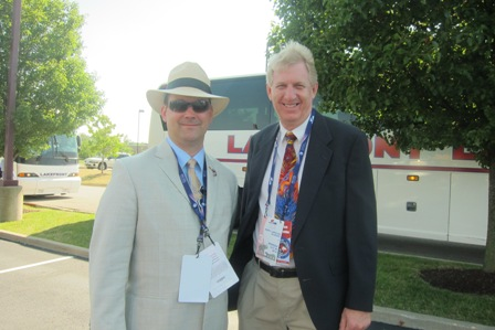 From the left:  Ted Hicks and Rod Chaney of North Carolina