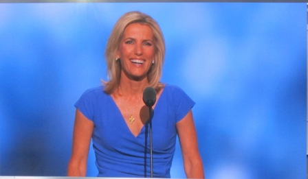 Laura Ingraham  ********** https://www.youtube.com/watch?v=sqNhDVcvrsg (She definitely brought down the house with this one ! )