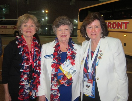 From the left:  Nancy Clark,  North Carolina Representative Patricia Hurley  and Martha Jenkins