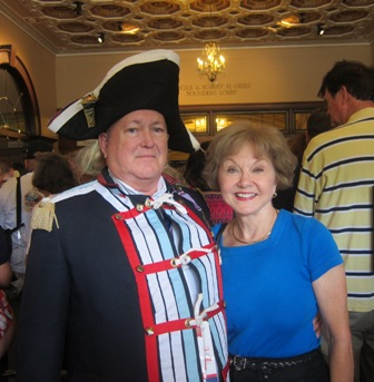 One of our early patriots with Nancy Clark