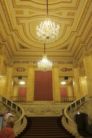 Ornate foyer of the Connor Palace Theatre, Cleveland, Ohio where the movie was shown. The theatre first opened in 1922