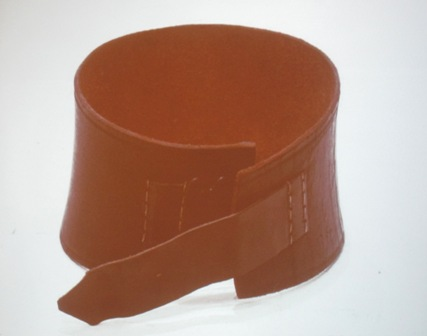 """Why our marines are called """"Leathernecks"""" - This is a photo of the leather collar that marines wore during the Barbary Coast Wars with the Muslim pirates to protect their necks from being cut off !"""