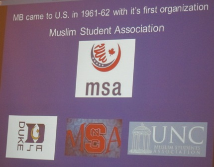The Muslim Student Association - MSA was founded by  the Muslim Brotherhood in 1961 - 1962