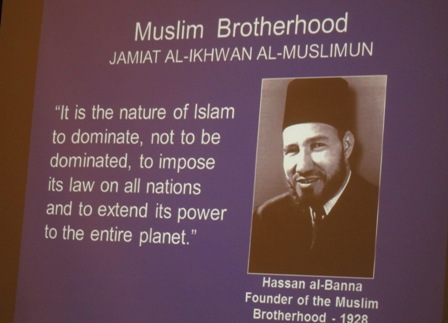 Hassan al-Banna, founder of the Muslim Brotherhood in 1928 An excellent book  - The Looming Tower: Al-Qaeda and the Road to 9/11 8 weeks on the  NY Times bestsellers list  https://en.wikipedia.org/wiki/The_Looming_Tower
