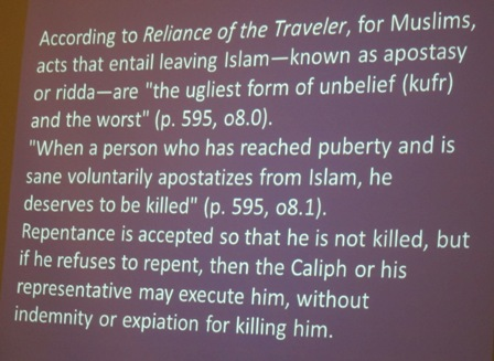 The killing of those who leave Islam - apostasy  http://formermuslimsunited.org/apostasy-from-islam/