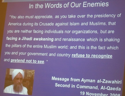 "A message to Obama in 2008 as he ""takes over the presidency of America"" from Ayman al-Zawahiri who was the second in command of Al-Qaeda"