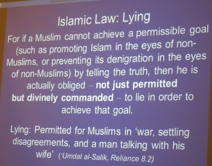"Lying in the name of Islam - ""not just permitted, but divinely commanded"""
