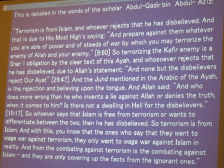 """""""Combating against terrorism is the combating against Islam - and they are only covering up the facts from the ignorant ones"""""""
