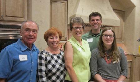 From the left:  Gus and Karen Kolias, M.J. Hall and Kara and Peyton Holland