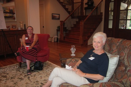 From the left:  Emily Walker and Dr. Brenda Hunter