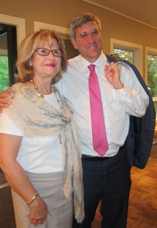 Stephen Moore and Linda Hester, Regent Gen. Davie Chapter, NSDAR, Durham