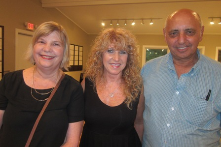 From the left:  Wynne Coleman, Pam Stevens and Tony Bruno