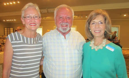 From the left:  Barbara and Ron Conner and Meg Gresham, ICON board member
