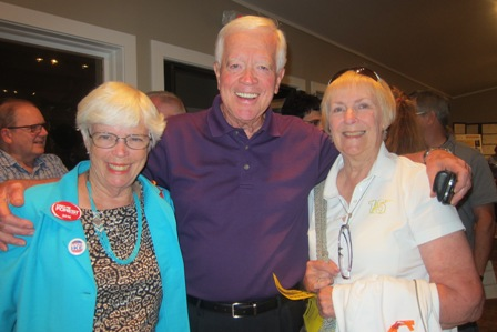 From the left:   Dee Park, John Rowerdink, Chairman, Moore County Republicans and Carol Wheeldon