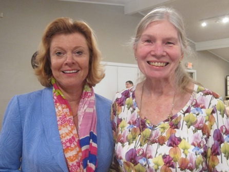 From the left:   Cheri Hardman and Dr. Laura Gutman, ICON board member