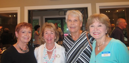 From the left:  Bonnie O'Neill, Gladys Kofalt, Rachel Orstad and Nancy Clark