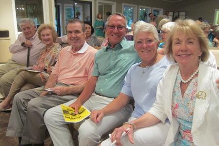 From the left:   Jim and Wendy Ball, Jim Kofalt, Steve and Ruth Bishop and Gladys Kofalt
