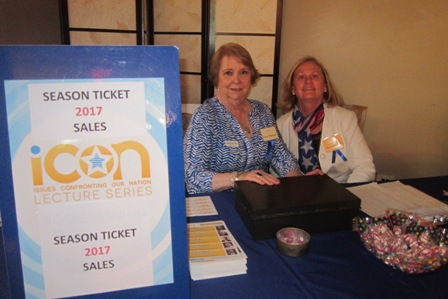 From the left:  Terry Wiegers, Friend of ICON and Jane Hogan, ICON Advisory Board