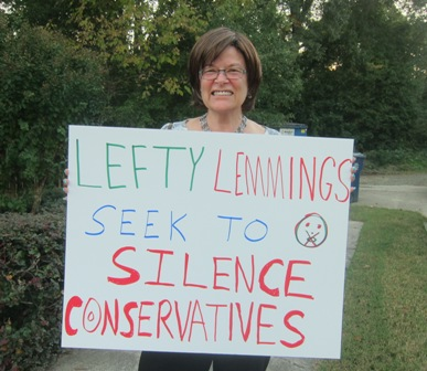 Lee Green,  a counter protest in support of Free Speech