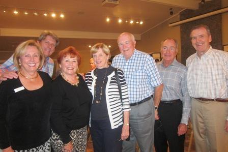 From the left:  Sandy Bazley, Ken Johnson, Karen Kolias, Ginny and Jerry Cole, Gus Kolias and Jim Kofalt